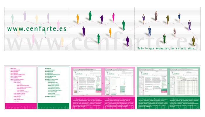 Cenfarte - Folleto presentación página web