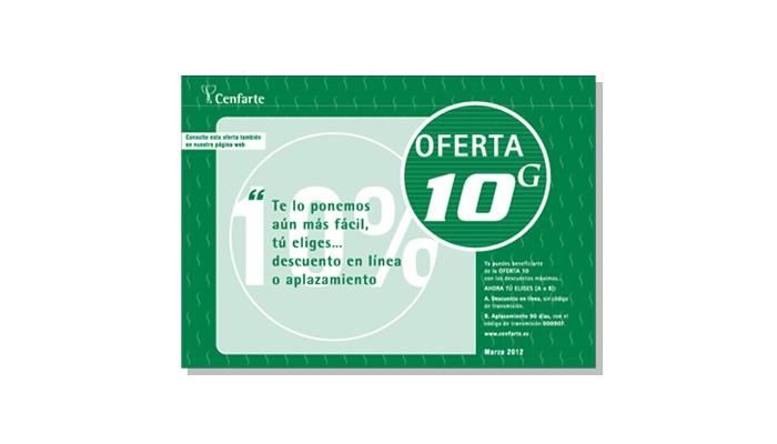 Cenfarte - Díptico Oferta 10G