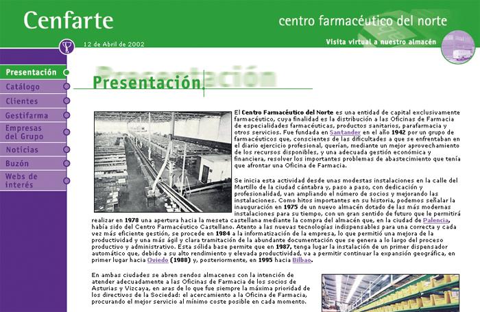 Cenfarte - Página web 2002