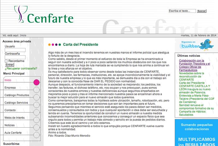 Cenfarte - Página web 2010